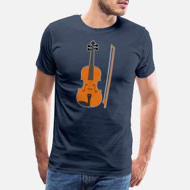 Funfair Violin Player Instrument Marching Band Gift - Men's Premium T-Shirt