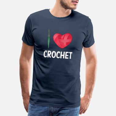 Braid Funny Crochet Knitting Sewing Yarn Crocheter Gift - Men's Premium T-Shirt