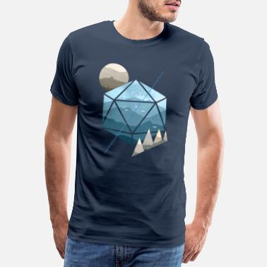 Kerstmis Dungeons & Dragons (Dnd) Watercolour D20 - Mannen premium T-shirt