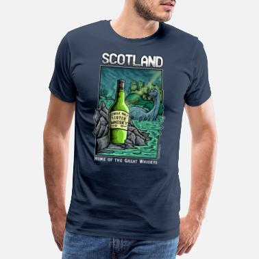 Scotch Scotland: Home of the Great Whiskeys - Men's Premium T-Shirt