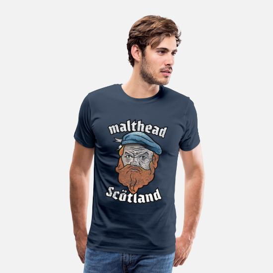 Schottland T-Shirts - Whisky T-Shirt Malthead for Whisky Fans - Männer Premium T-Shirt Navy