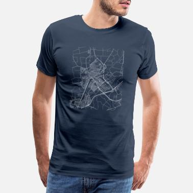 Netherlands Minimal Middelburg city map and streets - Men's Premium T-Shirt