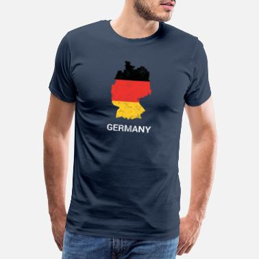 Living Germany (Deutschland) country map & flag - Men's Premium T-Shirt
