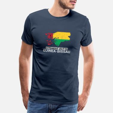 Festival Straight Outta Guinea-Bissau country map - Mannen premium T-shirt