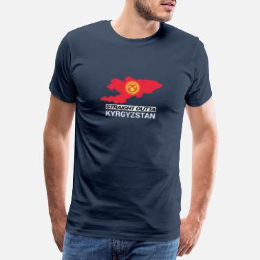 Country Straight Outta Kyrgyzstan country map - Mannen premium T-shirt