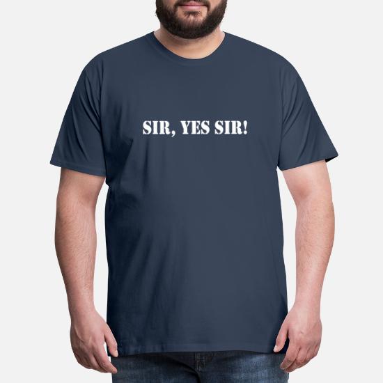 Sir Yes Sir Full Metal Jacket Männer Premium T Shirt