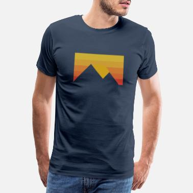 Retro Game Characters sunset abstract retro - Men's Premium T-Shirt