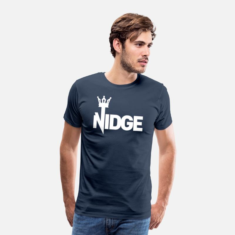 King T-Shirts - King Nidge - Men's Premium T-Shirt navy
