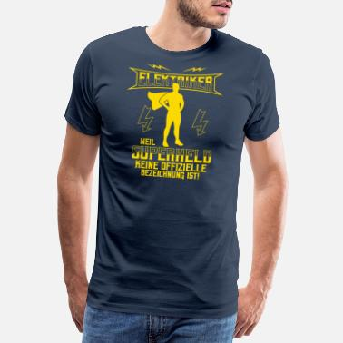 Blitz Electrician because superhero no profession is saying - Men's Premium T-Shirt