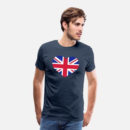 Heart T-Shirts - Love England | Herz | Heart | UK | United Kingdom - Men's Premium T-Shirt navy