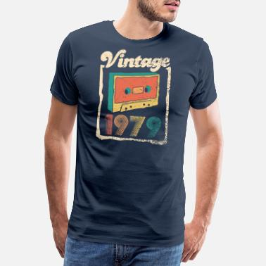 40th Birthday Vintage 1979 cassette tape 40th anniversary retro - Men's Premium T-Shirt
