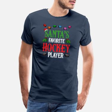 Advent Santa's Favorite Hockey Player Eishockey Spiel - Männer Premium T-Shirt