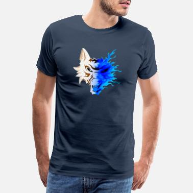 Skull And Crossbones WOLF IN FLAMES - Men's Premium T-Shirt
