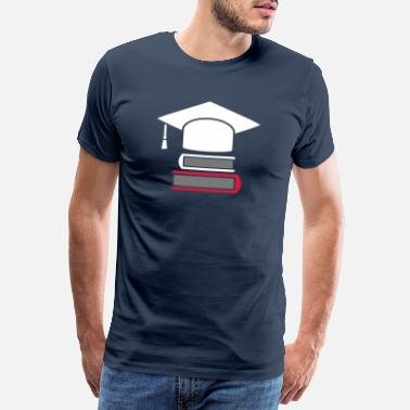 Academic Doktorhut Studium books - gift for graduation - Men's Premium T-Shirt