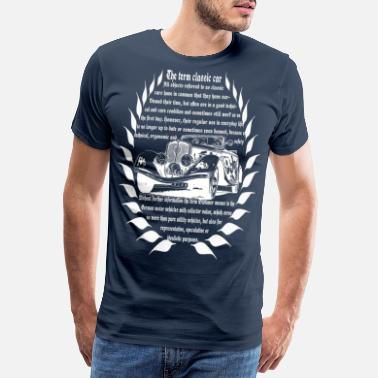 Streaker Car Car Collection Oldtimer Old School wit - Mannen Premium T-shirt
