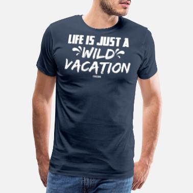 Time Travel Summer sea sun beach vacation gift - Men's Premium T-Shirt