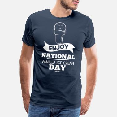 Glassbar National Vanilla Ice Cream Day present - Premium T-shirt herr