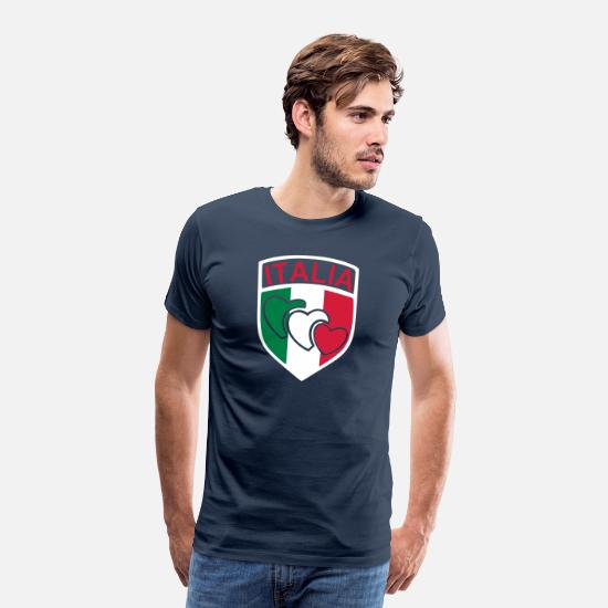 Sports T-Shirts - scudetto_italia2 - Men's Premium T-Shirt navy