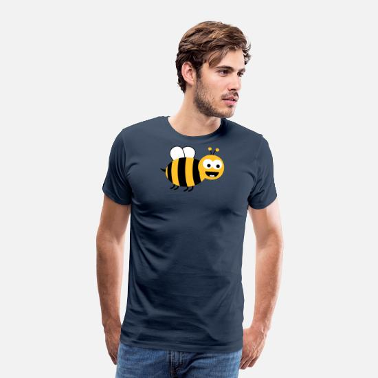 Bumble Bee T-Shirts - Funny Sweet Bee - Men's Premium T-Shirt navy