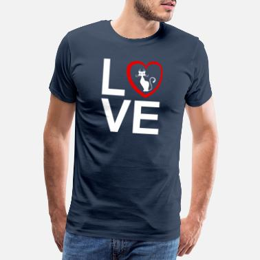 I Love My Cat - Men's Premium T-Shirt