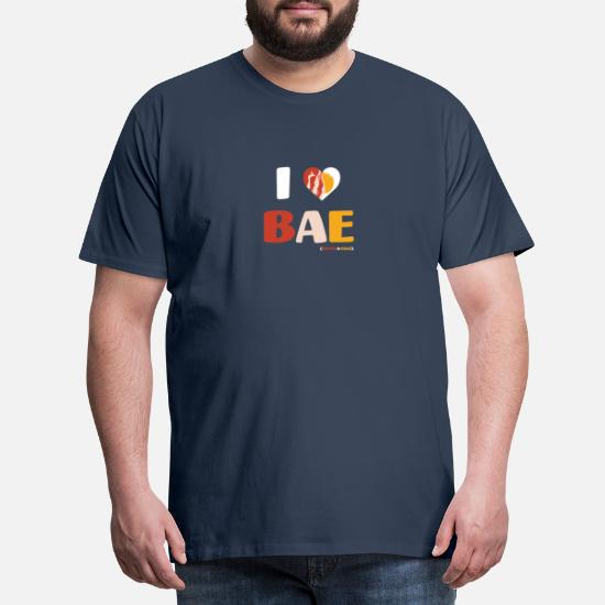 I heart Bae Bacon and Eggs Brown Adult T-Shirt