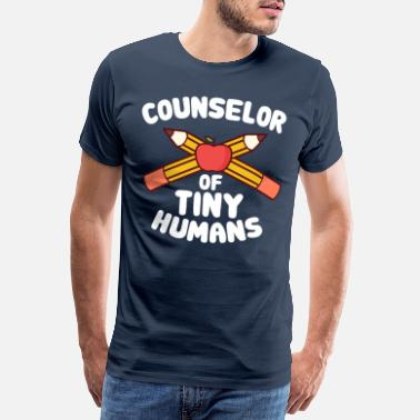 Psychologist School Counselor of Tiny Humans Counselor Gift - Men's Premium T-Shirt