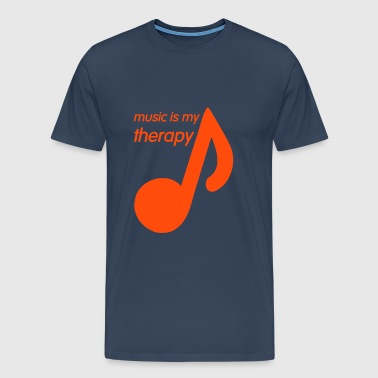 Music is my Therapy - Premium-T-shirt herr