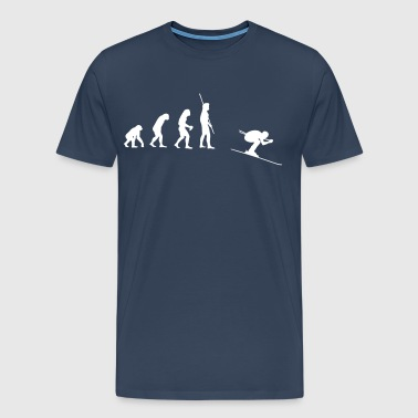 Evolution Skiing Downhill - Men's Premium T-Shirt