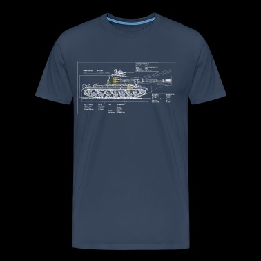 Object 268 blueprint - Men's Premium T-Shirt