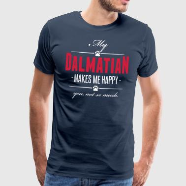My Dalmatian makes me happy - Men's Premium T-Shirt