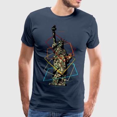 Militay Statue of Liberty - Mannen Premium T-shirt