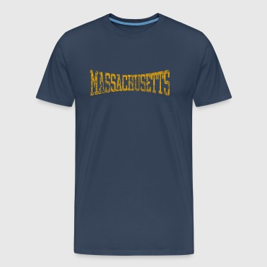 Massachusetts Retro - Premium-T-shirt herr