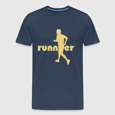White Running, Runner T-Shirts - Men's Premium T-Shirt