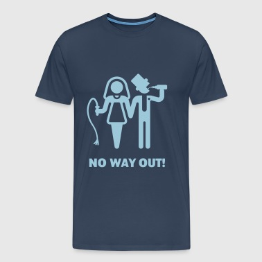 No Way Out! (Whip and Beer) - Men's Premium T-Shirt