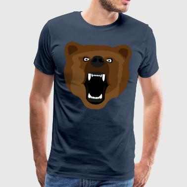 Bear / Bear / Медвед / aggressive - Men's Premium T-Shirt