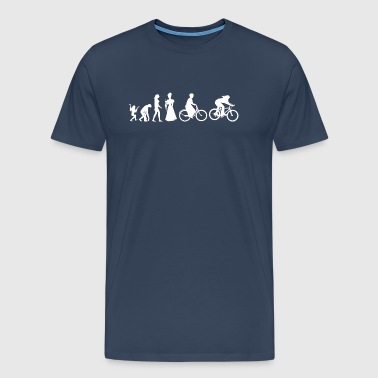 Women's Biking Cycling Evolution - Men's Premium T-Shirt