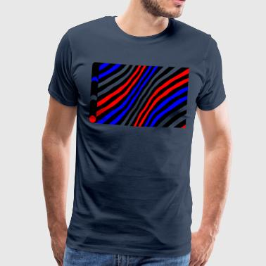 Geometry / colored / Strip - Men's Premium T-Shirt