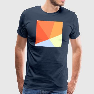 Vivid colors in Minimalist Style - Men's Premium T-Shirt