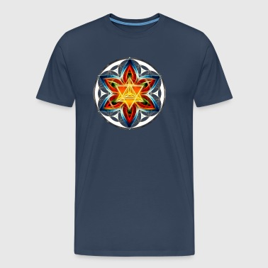 Merkaba, Flower of Life, Sacred Geometry - Men's Premium T-Shirt