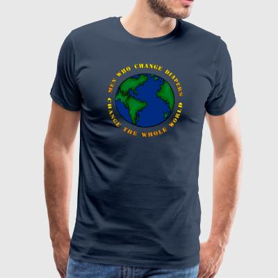 Hommes du nouveau-né qui changent Diapers Change The World - T-shirt Premium Homme