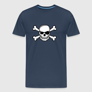 Skull with bones - Men's Premium T-Shirt