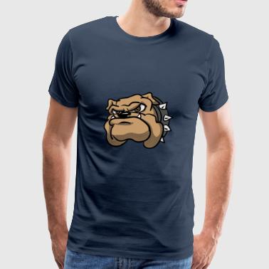 Bulldog Cartoon-Hund - Männer Premium T-Shirt