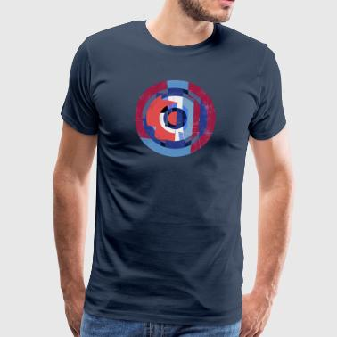Circle design abstract color 004 - Men's Premium T-Shirt