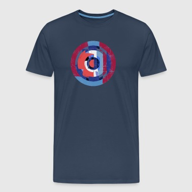 Circle design abstract colour 004 - Mannen Premium T-shirt