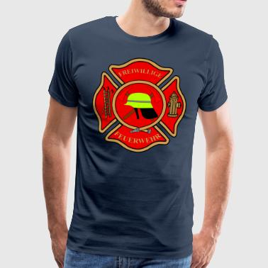 Firefighter Patch - Men's Premium T-Shirt