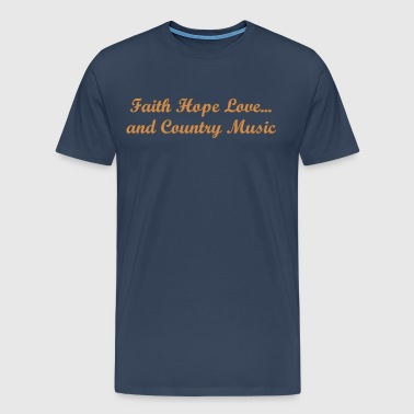 Shirt Faith Hope Love ... - Men's Premium T-Shirt