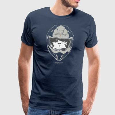 Two Wheeled Ape Big Head Design Ljus - Premium-T-shirt herr