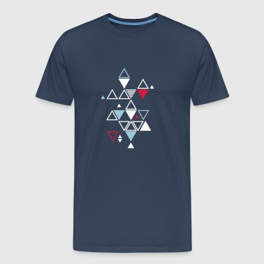 graphic pattern of triangles - Men's Premium T-Shirt