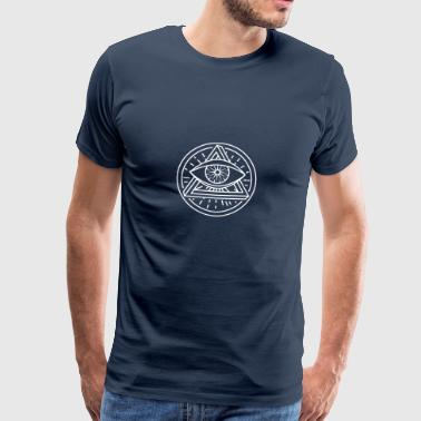 Eye of Providence - Optical Illusion - Herre premium T-shirt