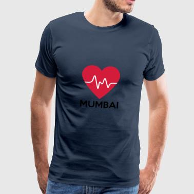 heart Mumbai - Men's Premium T-Shirt